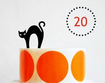 Halloween Orange Coloured Dot Stickers {50mm or 2.0in} Envelope Seals | Childrens Party Stickers for Favor Bags