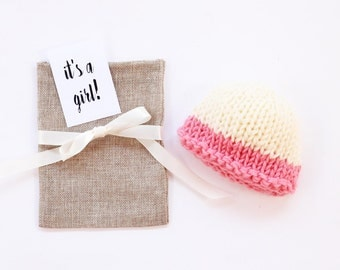 Baby reveal, baby girl, pregnancy reveal, birth announcement, new baby, newborn hat, pregnancy announce, baby announcement