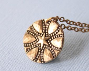 Bronze Victorian Starburst Pendant