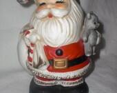 Vintage Ceramic Santa Bank
