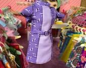 Super Mod Purple Design Blythe Doll Dress