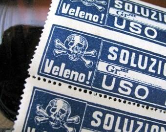 Vintage Poison Labels, European, Medicine, Ephemera, Oddities, Apothecary