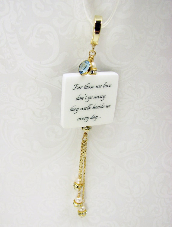 Her Something Blue, A Memorial Photo Charm - Medium - BC2FVa