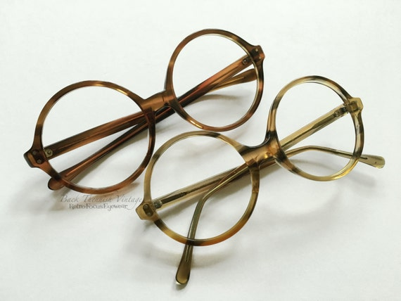 Eyeglass Frames Made In The Usa : 60s French/USA Big Round Tortoise Eyeglasses Grunge