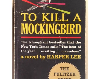 To Kill A Mockingbird - Harper Lee - 1962 edition - vintage paperback book