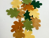 Wool Felt Leaves, Die Cut Shapes, Pure Merino Wool, Felt Assortment, Oak Leaves, Applique, Embroidery, Hair Clips, Autumn Decor,