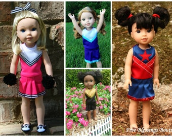 Oh Mickey Cheerleading Uniform for DOLLY PDF Sewing Pattern Sized for 14.5 Wellie Wisher H4H dolls