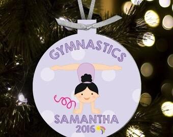 Gymnastics ornament - gift for gymnasts - gymnastics girl Christmas ornament GYMO