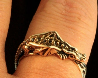 Gold Dragon Ring Flame Dragon Ring Game of Thrones Inspired Jewelry Pinky Ring Thumb Ring Gold Ring Dragon Lover Dragon Age Gold Band Flame