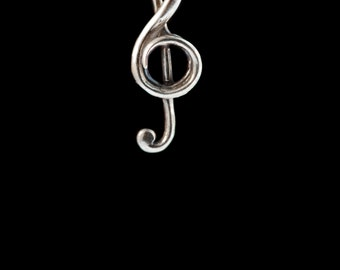 Music Note Necklace Treble Clef Jewelry Treble Clef Pendant Music Jewelry Bass Clef Marching Band Gifts Gift for Musician  Music Art