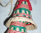 Christmas Bell Vintage Woven Strand Colorful Ornament Decoration