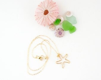 Handmade Starfish 14K Gold Filled Necklace