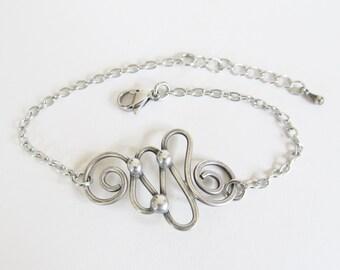 Celtic Bracelet Wire Wrapped Women's Wire Jewelry Silver Bracelets