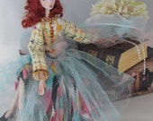 ESTELLE, Porcelain Fashion Doll, jointed puppet art doll, handmade in the USA