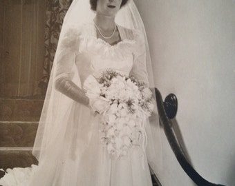 Here Comes the Bride 1940's Large Original Photograph