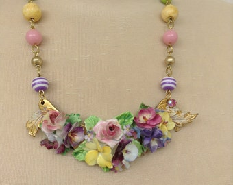Floral Assemblage Necklace