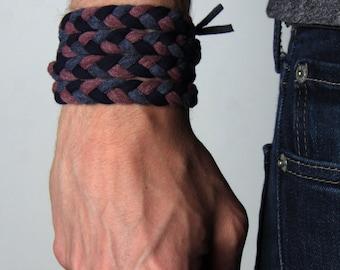 Cuff Bracelet, Wrap Bracelet, Braided Bracelet, Boyfriend, Burning Man, Best Friend Gifts, For Men, Festival Clothing, Dad Gift