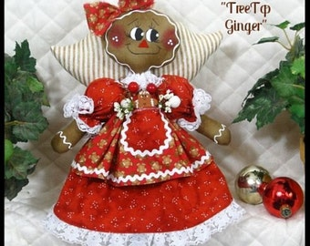 "Primitive Raggedy~""APRON CUTIES""~AnGeL TrEE-TOppEr~2016 Gingerbread Collection"