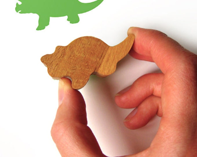 Dinosaur Rubber Stamp, Dino Wooden Ink Stamp
