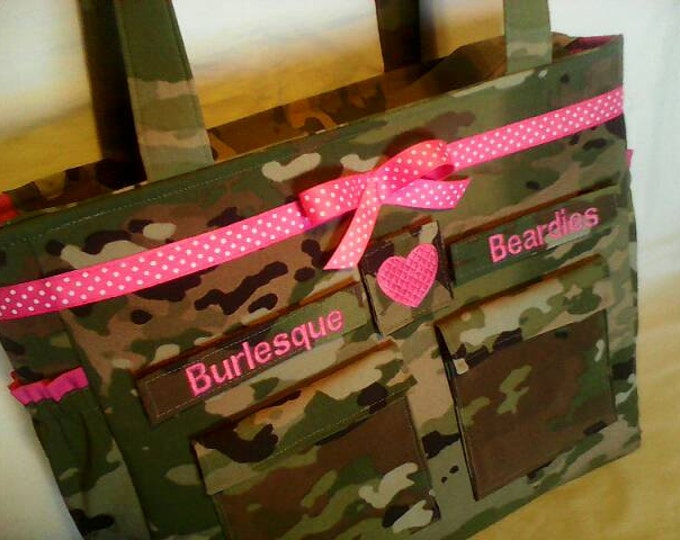 Army camo diaper travel baby bag OCP multicam  gift for her gift for him  personalized custom embroidered names words choice of colors trims