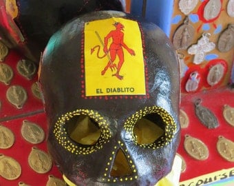 Day of the Dead DIABLITO Calavera (skull) by MARIPOSAFUERTE- Perfect for your altar!