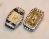 Art Nouveau Deco Watch Case Lot Movements Ladies Jewelry Bracelets Blue Stone Steampunk