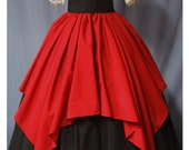 Overlay Skirt for Costume - Scarlet Red - Overskirt - Renaissance Faire - Pirate Wench - Handmade - Ren-Faire Costume Accessory