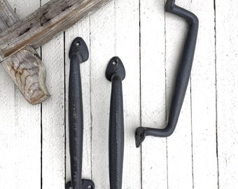 Large Iron Door Pull , Barn Door Pull, Home Fixtures, Door Handle, Remodel Kitchen Cabinet, Supplies