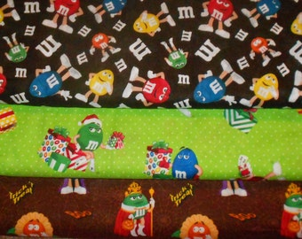 M&MS #2  Fabrics, Sold INDIVIDUALLY not as a group, by the Half Yard