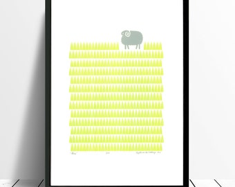 "Fine Art Print ""Sheep"" A3 size"