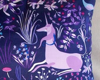 "Deep Purple Unicorn Lavender Buckwheat Decorative Throw Pillow - Aromatherapy Lumbar Neck Roll - Lavendar Nursing Support - 13 1/2"" X 8 1/2"""