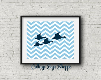 "Wild Geese Wall Art, Wild Geese Printable, INSTANT DOWNLOAD, 8 x 10"", 11 x 14"", Geese In Flight Art, Chevron Geese Printable,Nusery Wall Art"