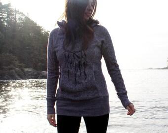 Purple Jeni Mack Hoodie with Dreamweaver and Falling Feathers Prints
