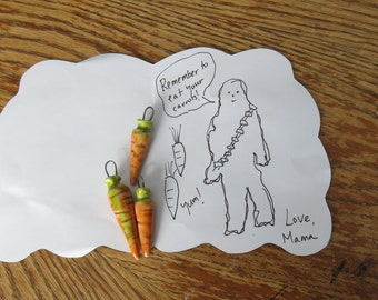 Orange Carrot Pendant