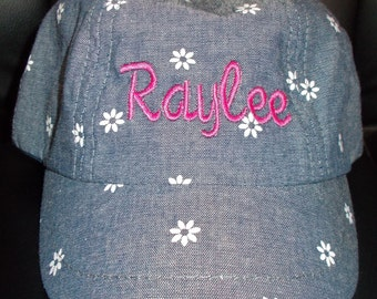 Personalized Custom Embroidered Baby Toddler Girl -Spring/Summer Solid & Printed Hats