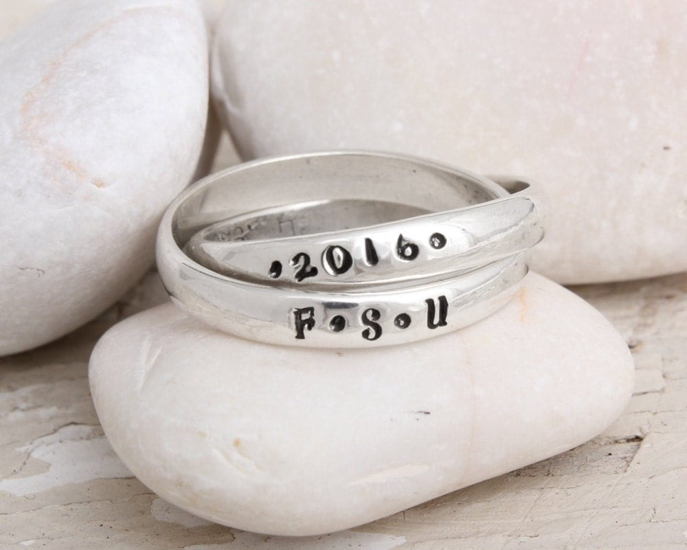 Graduation Rings Custom Class Ring with Name High School or