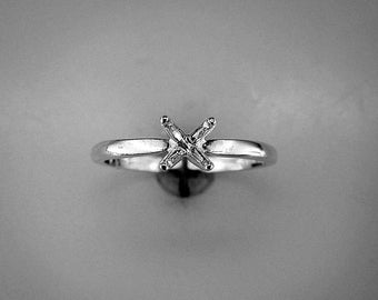Solitaire Ring Setting Ring Casting Solitaire Ring Sterling Silver Ring Setting Ring Silver Solitaire Ring Solitaire Engagement Size 7