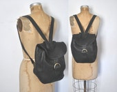 COACH Backpack Bookbag / black Leather knapsack bag