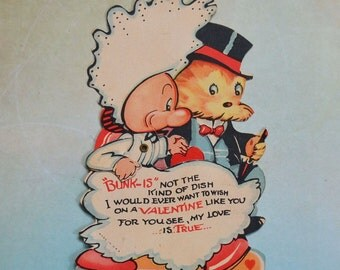 Vintage Mechanical Bride and Groom Cartoon Valentine
