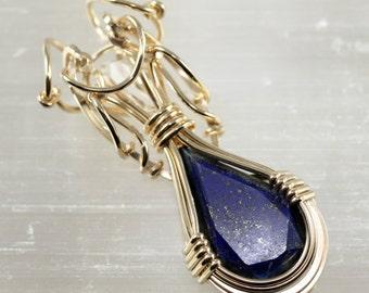 Lapis Lazuli with Herkimer Diamond - Unique Designs by artist Philip Crow