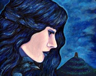 "Print 8 x 10"" Morgan Le Fey, goddess, avalon - Fantasy, pagan art"