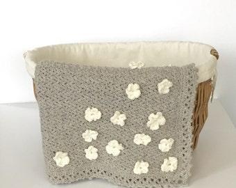 Crochet PATTERN Blanket Beginner - Flowers - Crochet Pattern Blanket Beginner - Baby Girl