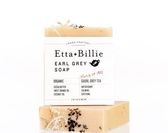 Earl Grey Bar Soap Organic Ingredients Vegan 5 oz
