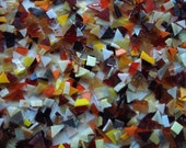 FALL MIXTURE, CUT Stained Glass - Scrap Glass for Mosaic Projects