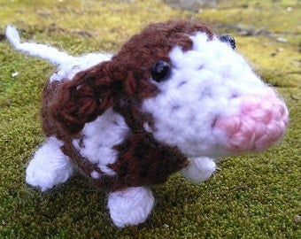 Crochet Cow Pattern - PDF amigurumi cow - easy farm animal crochet pattern - miniature cows