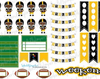 Pittsburgh Football Planner Stickers