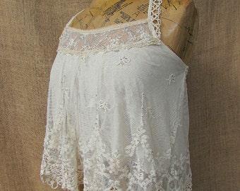 Cream lace camisole