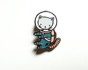 Blue Space Kitty enamel pin - for all cat loving adventurers