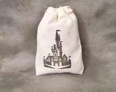 Disney Castle 3x5 - Set of 10 Cotton Bags - Mickey Mouse - Disney Gifts - Disney Wedding - Disney Cruise - Disney Fantasy - Disney Dream