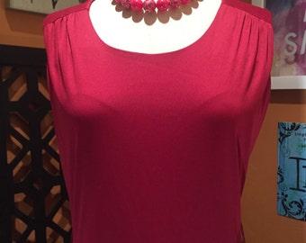 Cranberry Maroon Vintage Maxi Dress